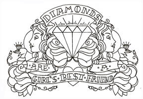 Diamond line art Re-done. by Rhodesan