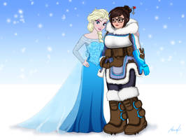 Mei and Elsa by Dormant0611