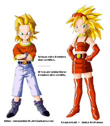 Pan y Bra ssj Render by Metamine10