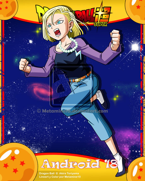 Android 18 And Tail Deviantart: DBS Android 18 By Metamine10 On DeviantArt