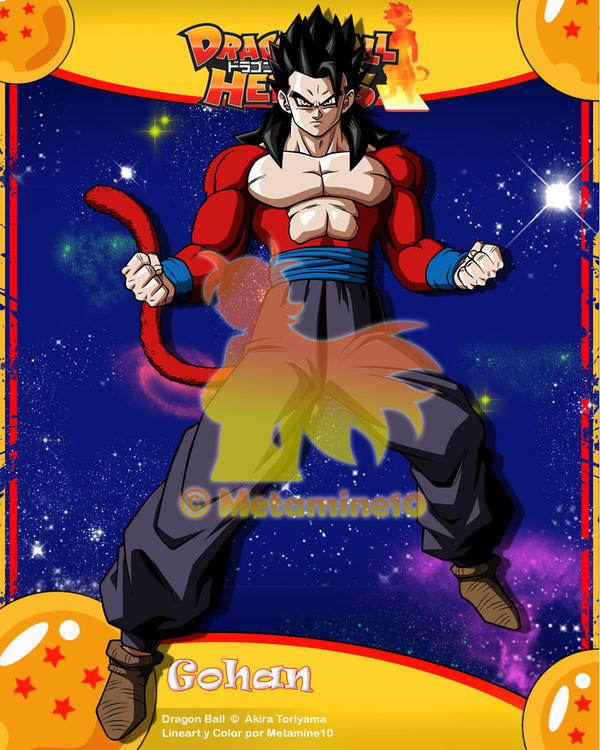 DB Heroes Gohan Ssj4 By Metamine10 On DeviantArt