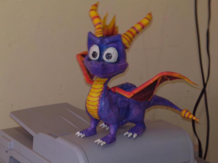 Spyro de Dragon Papercraft by delay-papercraft