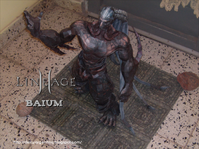 Lineage II Baium - Papercraft by delay-papercraft