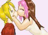 EdRose kiss -pixel art- by DarkMythril