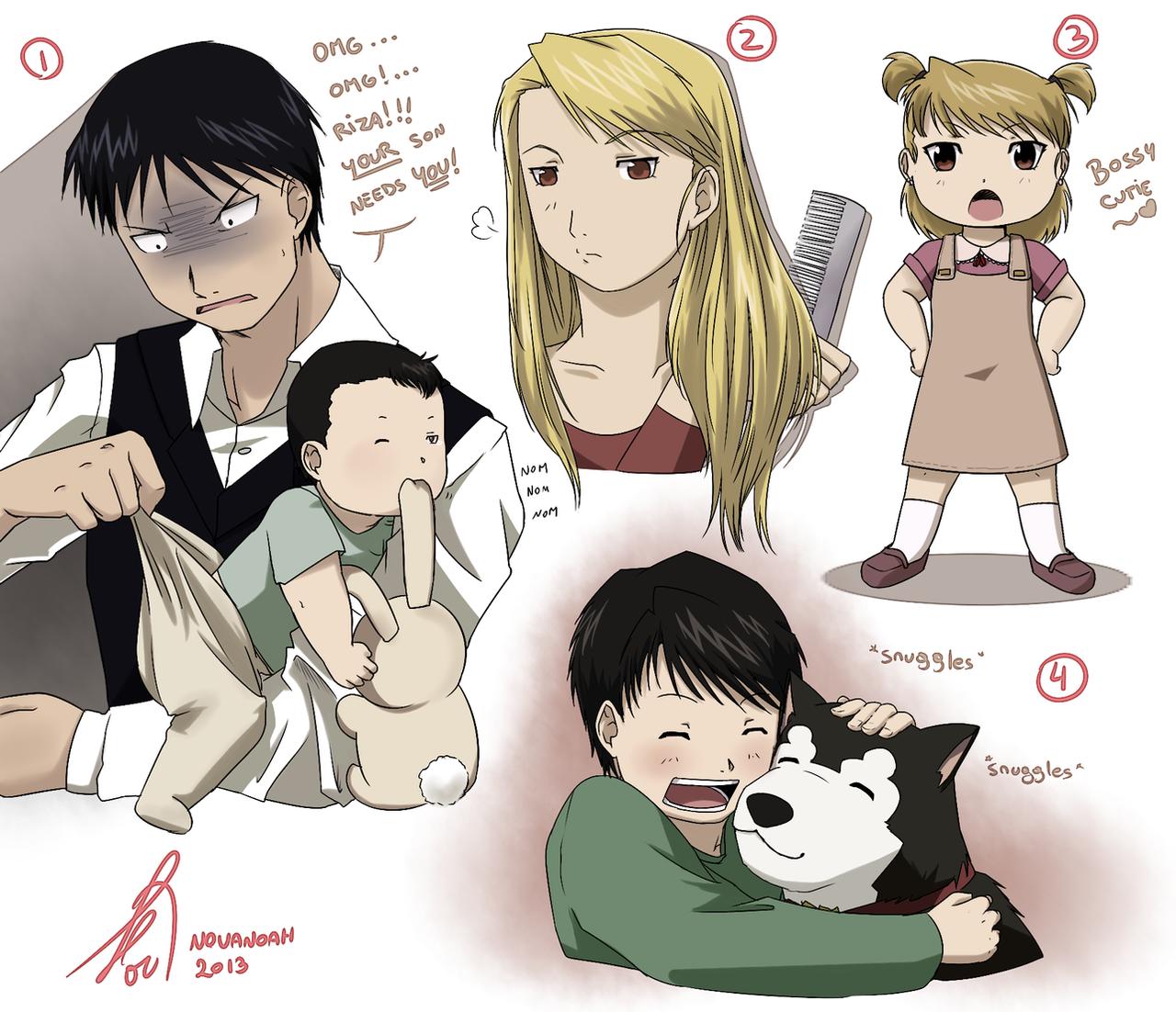 mustang_family_doodles_1_by_novanoah-d5x