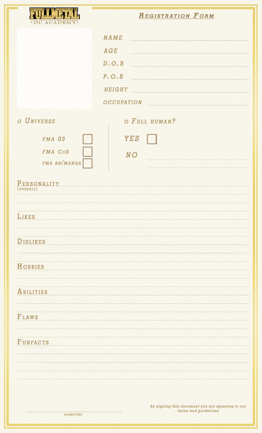 registration form template .