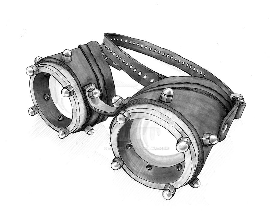 Copic Marker Steampunk Goggles by TheRebelJedi on DeviantArt