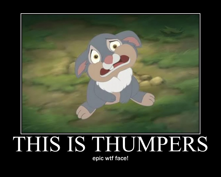 thumper motivational by alucardserasfangirl
