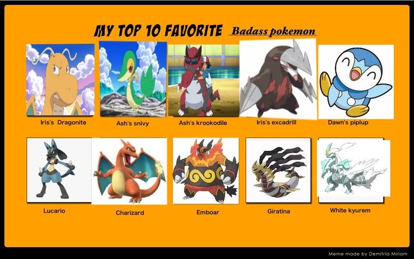 My Top Ten Badass Pokemon X3 By Alucardserasfangirl