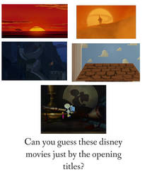 Can you guys guess these Disney movies???
