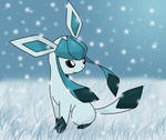 Glaceon out in the snow
