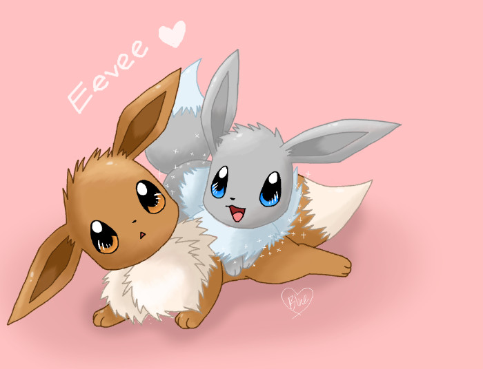 Eevee Twin by Bluekiss131