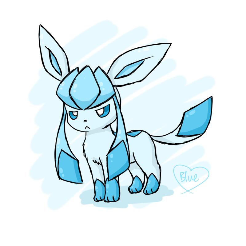 Grumpy Chibi Glaceon by Bluekiss131
