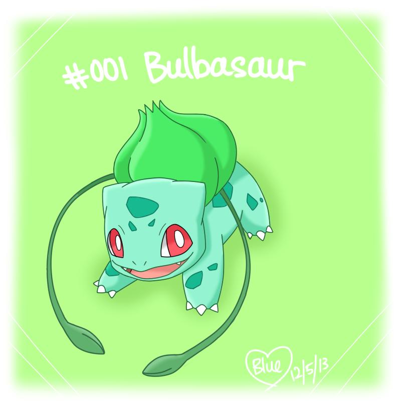 #001 Bulbasaur by Bluekiss131