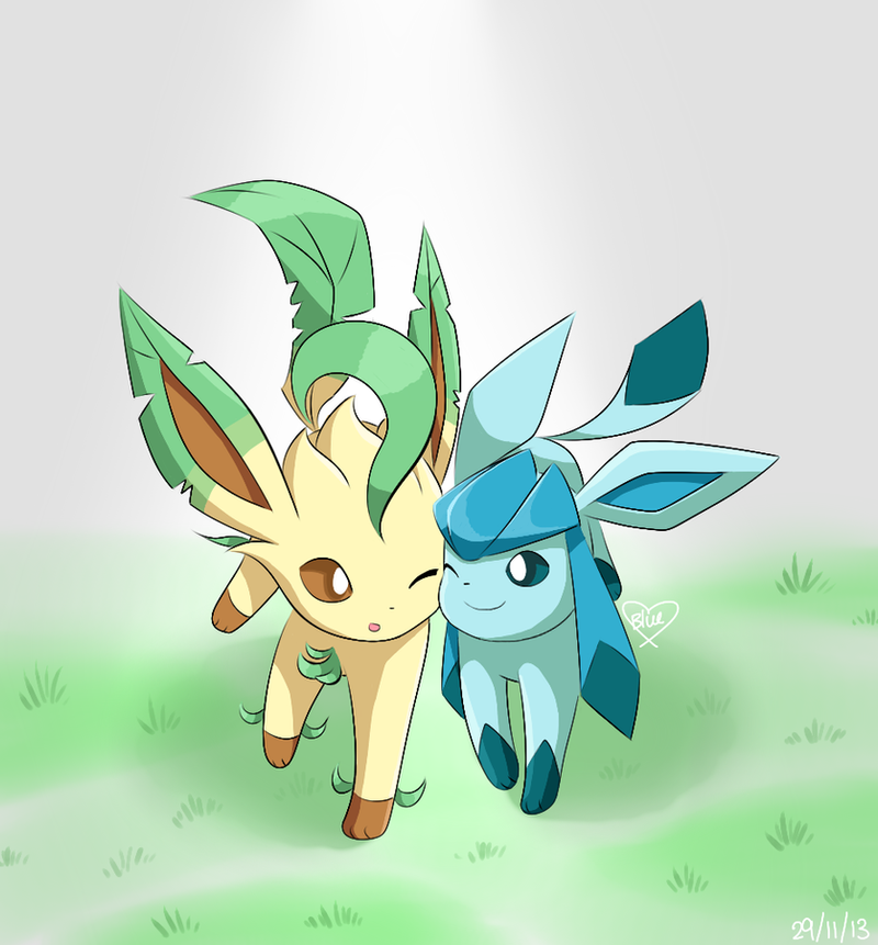 Request: Leafeon and Glaceon by Bluekiss131