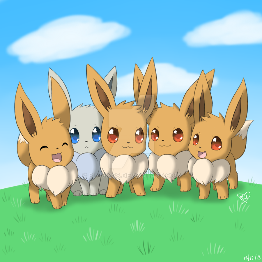 eevee horde by bluukiss on deviantart