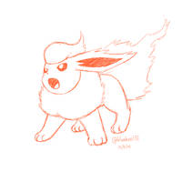 Flareon Sketch by BluuKiss
