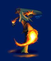 Art Trade: Blaze Kick by BluuKiss