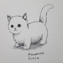 Inktober 2016: Day 4 - Kitten