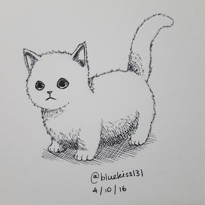 Inktober 2016: Day 4 - Kitten