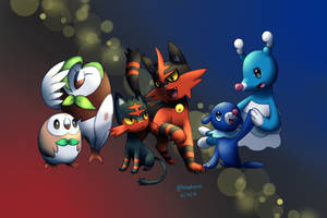 Pokemon Sun and Moon: Starter Trio Evolves by BluuKiss