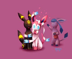 Umbreon x Sylveon (feat. Glaceon) by BluuKiss