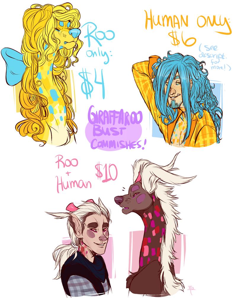 Get Your Own Giraffaroo Busts! by MrsDrPepper