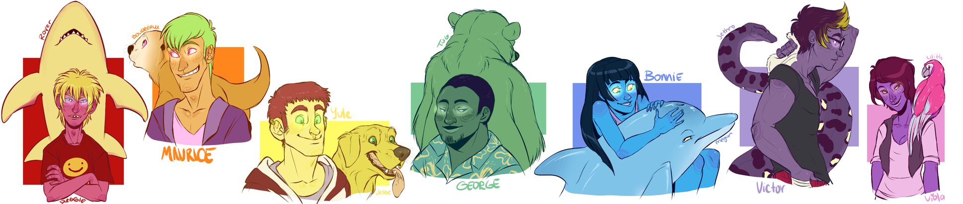 The Cast of Colorful Dorks by MrsDrPepper