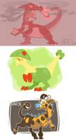 colors! 3d - some pokemon