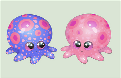 2 Cute Little Octopus