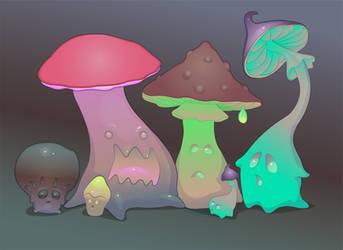 Evil Poisonous mushrooms