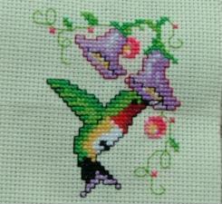 Cross Stitch Hummingbird by kanawinkie