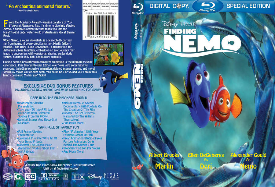 Pin Dvd-art-finding-nemo-cover on Pinterest
