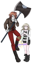 Rick aka Smiley Face and Iris (Angels Of Death) by PainApple-K