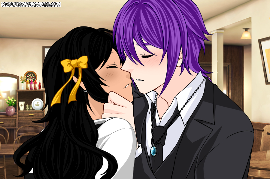 Steine Greggon and Trafalgar Miyoko Almost Kiss by MissAmaterasu18