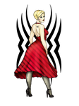 Rockabilly Girl In Red by CatAstropheBoxes
