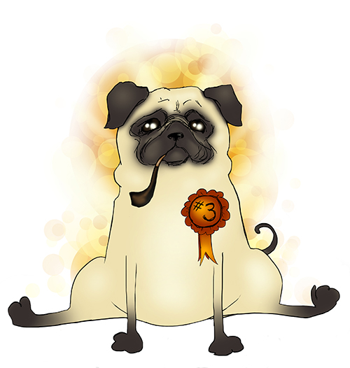Third Best Pug by CatAstropheBoxes