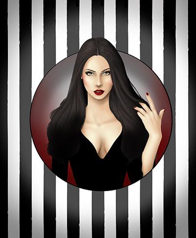 Morticia Addams by CatAstropheBoxes