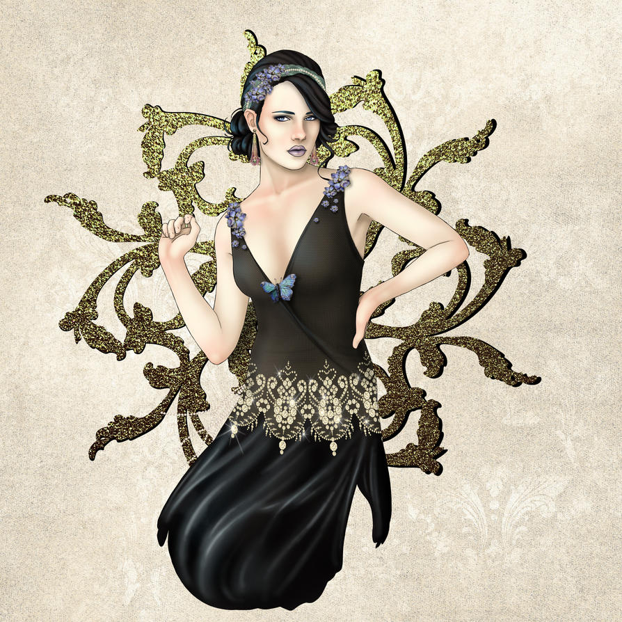 1920s Jazz Siren by CatAstropheBoxes