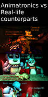 Animatronics vs Real-Life counterparts
