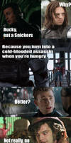 Eat a snickers (Spoilers for Cap 2)