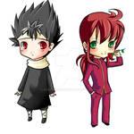 Hiei and Kurama