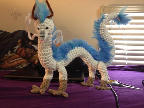 Haku the Amigurumi Dragon