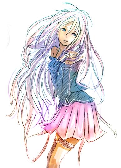Vocaloid IA doodle fanart by Duduru