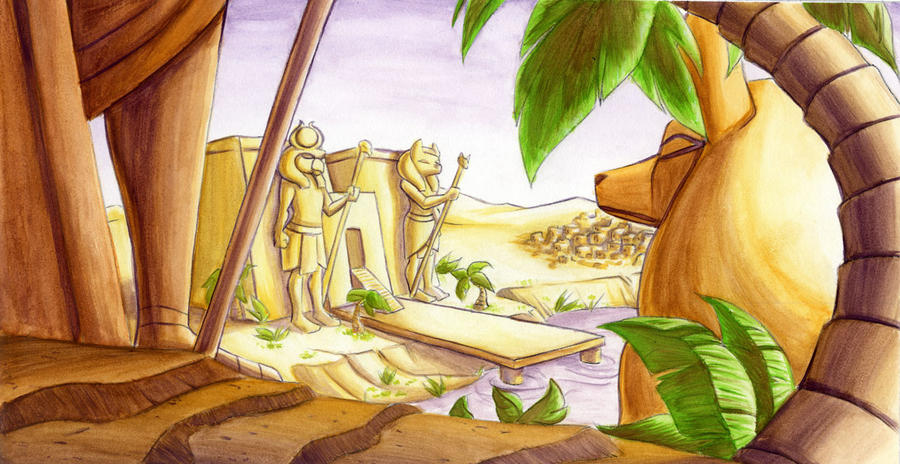 in the land of the pharoes by MagnaStorm