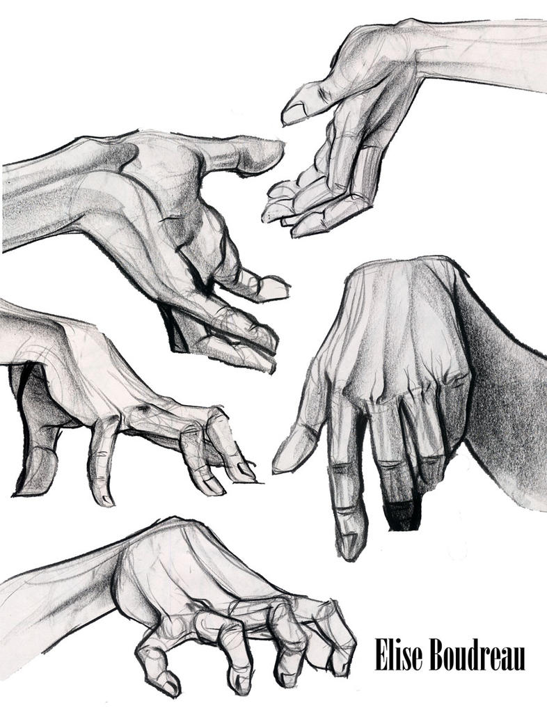 hand studies by MagnaStorm