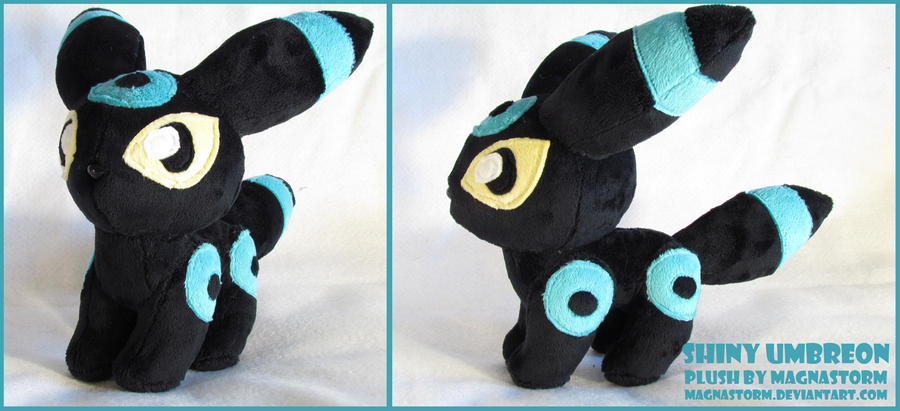 Shiny Umbreon pokedoll by MagnaStorm