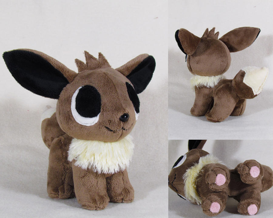 Pokemon time Eevee pokedoll by MagnaStorm