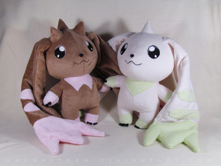 Lopmon and Terriermon V2 by MagnaStorm