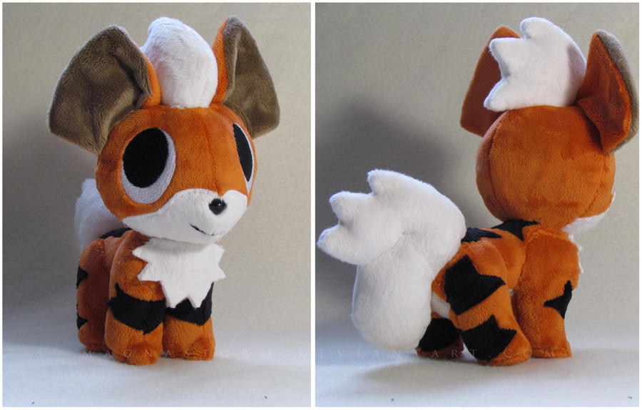 pokemon time Growlithe pokedoll by MagnaStorm